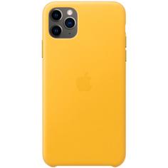 Чехол Apple iPhone 11 Pro Max Leather Case Meyer Lemon