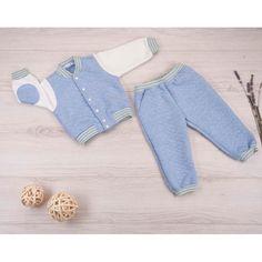 Комплект кофта/брюки Ярко Капитоша, цвет: голубой/экрю