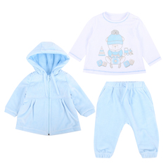 Комплект куртка/джемпер/брюки Ярко Мои друзья, цвет: голубой