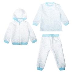 Комплект толстовка/джемпер/брюки Ярко Капитоша, цвет: белый/ментоловый