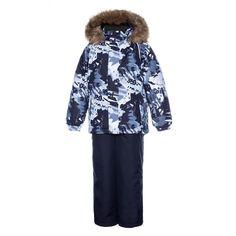 Комплект куртка/полукомбинезон Huppa Winter, цвет: черный