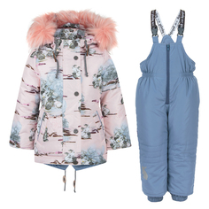 Комплект куртка/полукомбинезон Аврора загадка, цвет: розовый/сиреневый Avrora