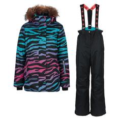Комплект куртка/полукомбинезон StellaS Kids Zebra, цвет: бирюзовый