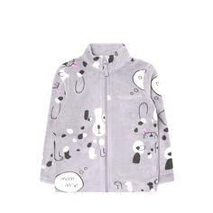 Кофта Crockid Собачки, цвет: серый