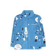 Кофта Crockid Собачки, цвет: голубой