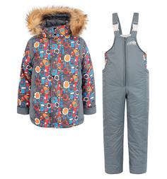 Комплект куртка/полукомбинезон Arctic Kids, цвет: серый