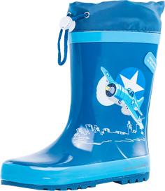 Резиновые сапоги Котофей, цвет: синий