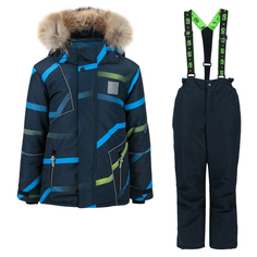 Комплект куртка/полукомбинезон StellaS Kids Waves, цвет: черный