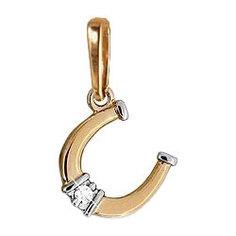Золотые кулоны, подвески, медальоны Кулоны, подвески, медальоны Aquamarine 920629K-G-a