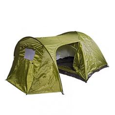 Палатка трехместная BOYSCOUT с тамбуром двухслойная