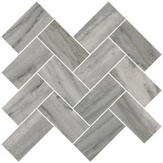 Мозаика Vitra Palissandro Шеврон Серый 32x28 см
