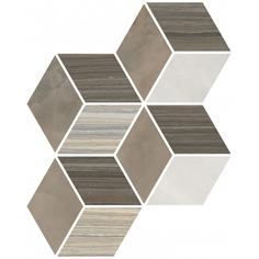 Мозаика Vitra Serpe-Nuvola Ромб Теплая Гамма 24×30 см