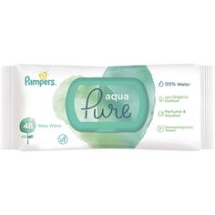 Детские влажные салфетки Pampers Aqua Pure 48 шт