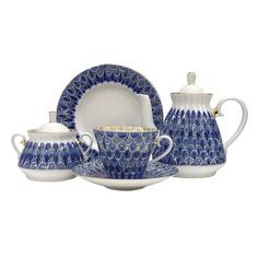 Чайный сервиз ЛФЗ Незабудка 6 персон 20 предметов
