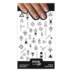 Наклейки для ногтей PINK UP DECOR BLACK переводные тон 665