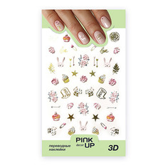 Наклейки для ногтей PINK UP DECOR 3D переводные тон 690