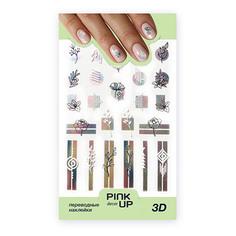 Наклейки для ногтей PINK UP DECOR 3D переводные тон 692