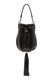 Черная сумка с отделкой Miu Miu