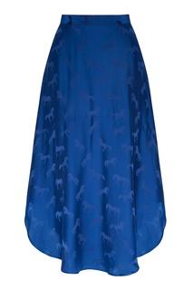 Синяя юбка с рисунком Stella Mc Cartney