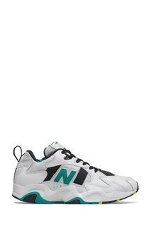 Белые комбинированные кроссовки New Balance