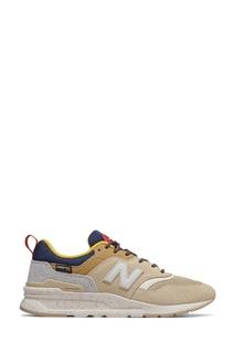 Бежевые кроссовки с контрастными вставками New Balance