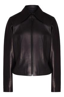 Черная кожаная куртка Izeta