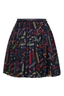Пышная мини-юбка с принтом Dolce&Gabbana Children