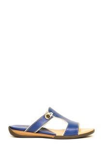 Синие кожаные слиперы Artioli