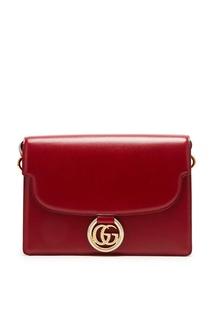 Вишнево-красная сумка GG Ring Gucci