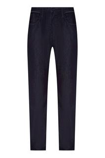 Темно-синие джинсы из хлопка Emporio Armani