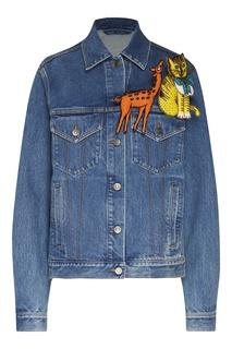 Джинсовая куртка с декором Gucci