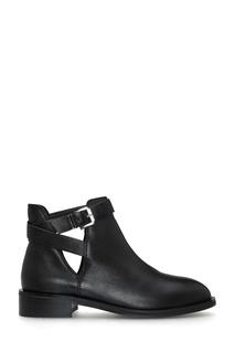Черные ботинки с ремешками на голенище Portal