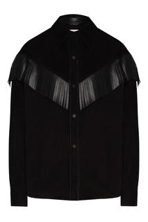 Черная замшевая рубашка с бахромой Izeta