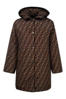 Двусторонняя куртка с монограммами Fendi Kids