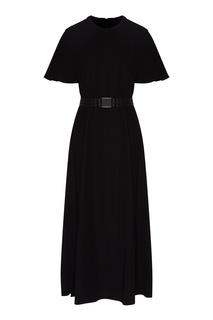 Платье миди черного цвета Emporio Armani