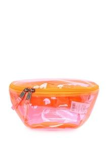 Розовая прозрачная сумка на пояс Eastpak