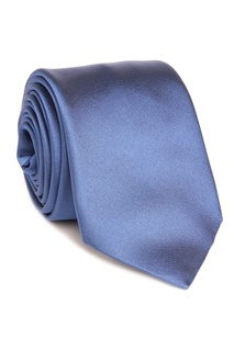 Синий атласный галстук Silvio Fiorello