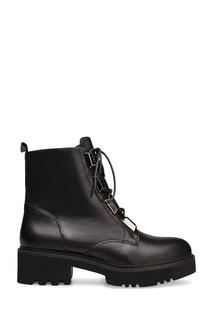 Черные ботинки с металлической фурнитурой Portal