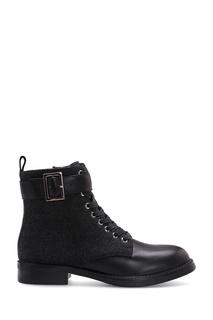 Черные комбинированные ботинки Portal