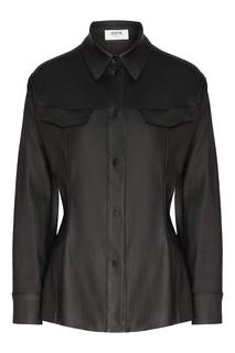 Черная кожаная рубашка Izeta