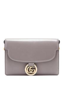 Серая сумка-кроссбоди с монограммой Gucci