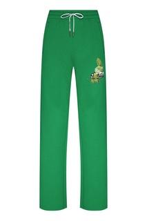 Спортивные брюки зеленого цвета Off White