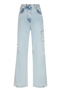 Широкие джинсы голубого цвета Off White