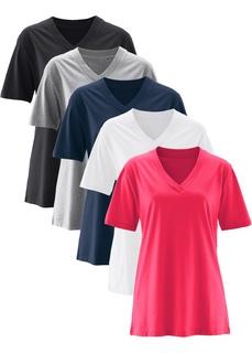 Футболки с коротким рукавом Удлиненная футболка с коротким рукавом (5 шт.) Bonprix