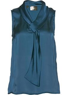 Блузки с коротким рукавом Топ из сатина Bonprix