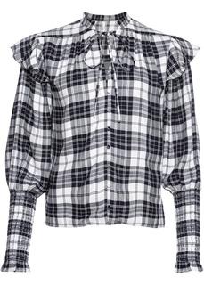 Блузки с длинным рукавом Клетчатая рубашка Bonprix