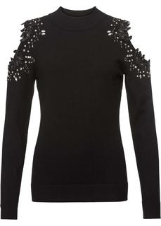 Пуловеры с круглым вырезом Пуловер с вырезами Bonprix