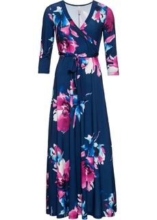 Платья с длинным рукавом Платье макси с цветочным рисунком Bonprix
