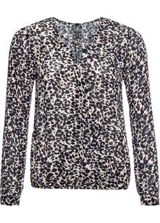 Блузки с длинным рукавом Блузка с запахом-обманкой Bonprix