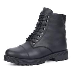 Ботинки Черные кожаные ботинки на шнуровке Respect